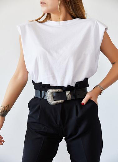 XHAN Vatkalı Basic Tişört 0Yxk2-43401-02 Beyaz